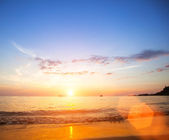 Beautiful sea beach sunset. — Stock Photo