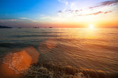 Sunset of sea beach. — Stock Photo