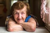 Smiling elderly woman. — Stock Photo