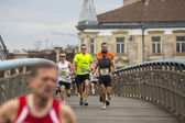 Participants during Krakow international Marathon. — Stock Photo