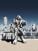 Alien Battle Droid - City Watch — Stock Photo
