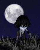 Toon Wolf Boy Prowling — Stock Photo
