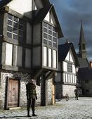 Medieval Town Watchman — Stock Photo