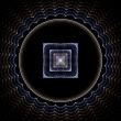 Square Circle Abstract Fractal Design — Stock Photo