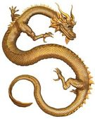 Chinese Gold Dragon — Stock Photo