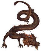 Chinese Bronze Dragon — Stock Photo