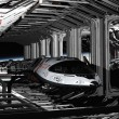 Stock Photo: Shuttle Hanger Deck