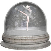 Ballet Snowglobe — Stock Photo