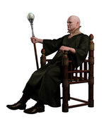 Warlock Sitting on his Throne — Stock Photo