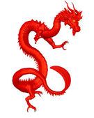 Lucky Red Chinese Dragon — Stock Photo
