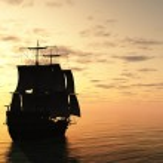 Sailing Ship at Sunset — Stock Photo #28571517