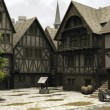 Medieval or Fantasy Town Centre Marketplace — Stockfoto