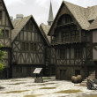 Medieval or Fantasy Town Centre Marketplace — Foto Stock