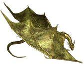 Green Scaled Dragon Crawling — Stock Photo
