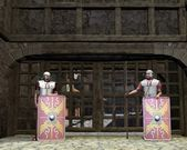 Roman Legionary Gate Guards — Stock Photo