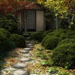 Japanese Tea House and Garden — Stock Photo