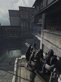 Urban Combat Space Marine - the Watcher — Stock Photo