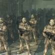 Stock Photo: Space Marines - waiting to disembark