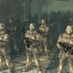Space Marines - waiting to disembark — Stock Photo #33270931