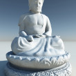 Stock Photo: White Stone BuddhStatue Illustration