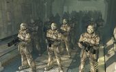 Space Marines - waiting to disembark — Stock Photo