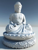 White Stone Buddha Statue Illustration — Stock Photo