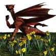 Welsh Red Dragon — Stock Photo