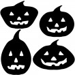Halloween Pumpkin Silhouette Illustrations — Stock Photo