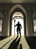 Dark Lord at the Threshold — Stock Photo