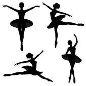 Ballet Dancer Silhouettes - 2 — Stok fotoğraf