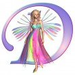 Stock Photo: Fairy Alphabet - letter D