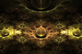 Crystalline Wormholes Abstract Fractal Design — Stock Photo