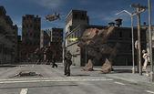 Urban Combat Patrol - Zombie Central — Stock Photo
