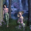 Forest Elves — Stock Photo