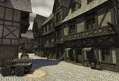 Mediaeval Street Scene — Stock Photo