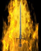Flaming Sword — Stock Photo