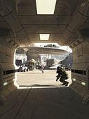 Future City Spaceport Assassination — Foto Stock