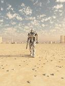 Future Soldier, Desert Patrol — Stock Photo