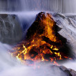 Fire in water - Stock Photo