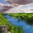 North American Forest and River — Stock Photo