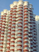 Modern architecture. A part of a high-rise building in a big city. — Stock Photo