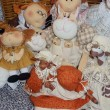 "Handmade soft collectible  dolls. Moscow flea market ""Tishinka"". March, 2013. — Stockfoto"