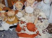 手作りソフト コレクタブルドール人形。モスクワ フリー マーケット「tishinka」。2013 年 3 月. — ストック写真