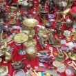 "Background. Abundance of retro knick-knacks.  Moscow flea market ""Tishinka"". March, 2013. — Stock Photo"
