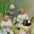Handmade collectible dolls-reborn. Moscow International Fair of Collectible Dolls and Teddy Bears. April, 2013. — Photo