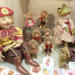 Collectible handmade  dolls. Moscow International Fair of Collectible Dolls and Teddy Bears. April, 2013. — Photo