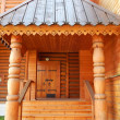 Stock Photo: Beautiful wooden porch. Russitsar's wooden palace in Kolomenskoe (Moscow), built in 17th century. August, 2013.