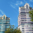 Modern architecture. Residential high-rise buildings, Moscow. August, 2013. — Stock Photo