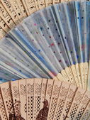 Summer fans. Background. Close-up. Texture. — ストック写真