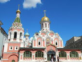 Cathedral of the icon of Our Lady of Kazan' in Red Square. August, 2013. — Stock Photo